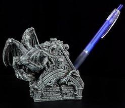 "6"" Evil Guardian Winged Gargoyle Sculpture Figure/Pen Holder - €20,38 EUR"