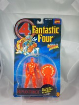 Toy Biz Fantastic Four Human Torch Glows in Dark figure w/ catapult launcher NIP - $7.51