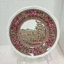 Copeland Spode Delft Tower Pattern Luncheon Plate 9.25 Inches Ross Castle. - $36.14
