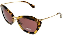 Miu Miu Sunglasses Women Havana Yellow Butterfly MU10NS 7SOOA0 - $294.03