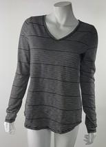 Sonoma Women Small The Everyday Tee Black White Striped Cotton Blend Blouse NWOT - $14.01