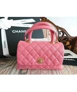 Chanel Coco Handle Bag Rose Pink Shoulder Handbag A92990 YH4 - $5,624.19