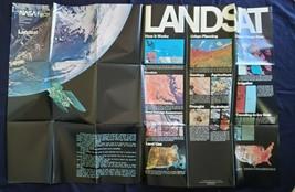 "NASA  Landsat Earth Photos & Facts Poster Measures 48"" by 32"" 1978! - $70.00"