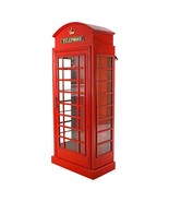 """72"""" London British Telephone Phone Booth Display Cabinet Replica Reproduction - $1,237.50"""