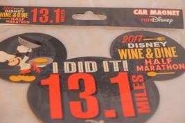 New 2017 runDisney Half Marathon Car Magnet 13.1 Miles Wine & Dine Challenge - $18.69