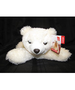 "AURORA CREAM IVORY WHITE STUFFED PLUSH ARCTIC POLAR BEAR 10"" 9"" BEANS NEW - $29.69"
