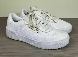 Puma Cali Leather Training Sneakers, White, Womens Size 7 / 37.5 - $62.99