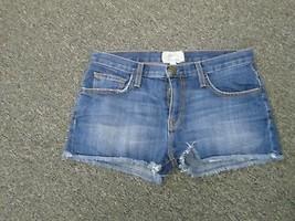 CURRENT ELLIOTT Blue The Boyfriend Short Cut Off Denim Shorts Sz 24 DD2429 - $34.64