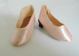 Vintage Premier Pink Oilcloth High Heels Shoes Medium Fashion Doll Old S... - $18.99