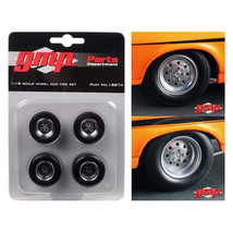1968 Chevrolet Nova 1320 Drag Kings Wheels and Tires Set of 4 1/18 by GM... - $24.92