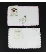 """Vintage Chinese Hand Embroidered Linens Doilies 6"""" X 9"""" (2) Packages - $15.00"""