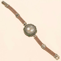 Real Emerald Rose Gold Polish Wrist Watch 925 Sterling Silver Valentine ... - $47.47