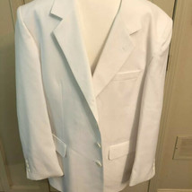 mens sport coats 46L White Ky Derby Dinner Jacket 3 Buttons Formal Black... - $29.00