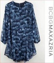 new BCBG MAXAZRIA women dress blouse TKN6243109-411 032019 blue XS MSRP $248 - $44.54