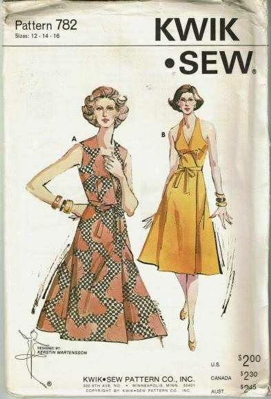 Primary image for Kwik Sew Sewing Pattern 782 Ladies Dress Size 12 14 16 Vintage Style