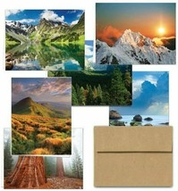 Note Card Cafe ~ 36 Cards & Envelopes ~ 6 Designs ~ Majestic Scenery  - $35.64