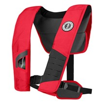 Mustang DLX 38 Deluxe Automatic Inflatable PFD - Red/Black - $178.29