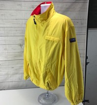 Vintage Ralph Lauren Polo Sport Hi Tech Yellow Red Fleece Lined Jacket M... - $98.99