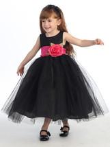 Stunning Girl's Black/Fuchsia Tulle Flower Girl Pageant Party Dress, Lit... - $51.45+