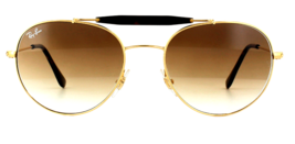RAY BAN Sunglasses RB3540 001/51 Gold Light Brown Gradient - $59.39