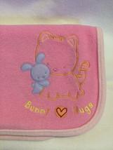 Child Of Mine Carters Pink Fleece Bunny Hugs Baby Blanket Rabbit Kitty Cat - $14.99