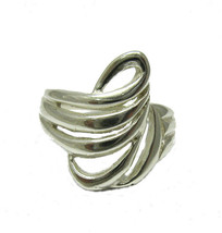 R001326 Light STERLING SILVER Ring Solid 925 - $218,89 MXN