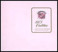 1975 Cadillac 24 pg. Brochure, Fleetwood, Eldorado, Original 75 - $20.52