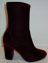 Kenneth Cole New York Size 10 M ALYSSA Wine Velvet Heel Boots New Womens Shoes - $183.15