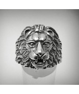 R001082 STERLING SILVER Ring Solid 925 Lion Head - $33.00