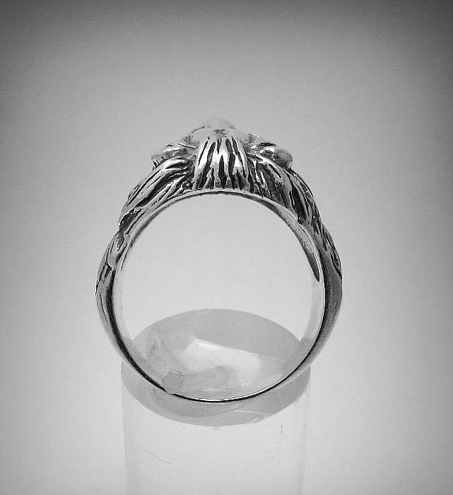 R001082 STERLING SILVER Ring Solid 925 Lion Head