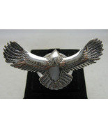 R001014 STERLING SILVER Ring Solid 925 Big Flying Eagle Adjustable Size - $26.10