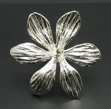 R000553 Sterling Silver Ring Solid 925 Huge Flower - $797,15 MXN