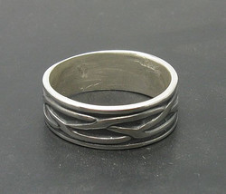 R000166 Stylish STERLING SILVER Ring Solid 925 Biker Band - $344,22 MXN