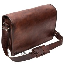 Leather Messenger Laptop Bag for Men - Vintage Satchel Shoulder Cross Body Bags  - $64.34