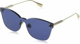 Dior DIOR COLOR QUAKE 2 Gold/Blue (PJP/KU) SUNGLASSES NEW AUTHENTIC - $199.95