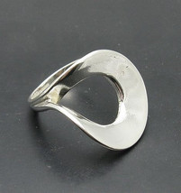 R001020 Stylish STERLING SILVER Ring Solid 925 Big Circle - $339,85 MXN