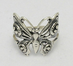 R000214 Stylish STERLING SILVER Ring Solid 925 Butterfly - $230,41 MXN