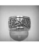 R001219 STERLING SILVER Ring Solid 925 Zodiac Band - $27.00