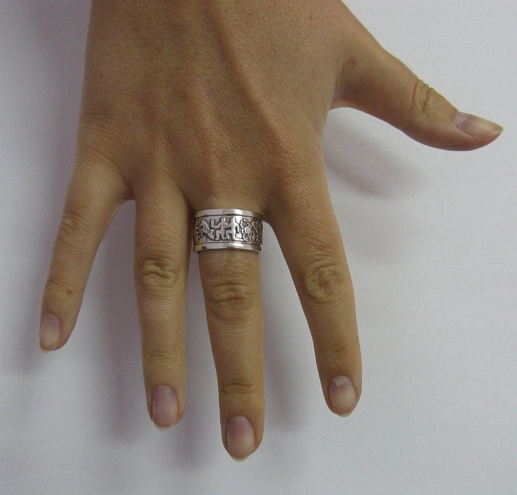 R001219 STERLING SILVER Ring Solid 925 Zodiac Band