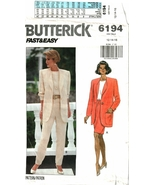 Butterick 6194 Fast & Easy Misses'/Misses' Petite Jacket Top Skirt & Pan... - $10.47