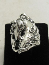 R000813 STERLING SILVER Ring Solid 925 Unicorn Horse - $392,53 MXN