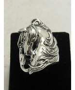 R000813 STERLING SILVER Ring Solid 925 Unicorn Horse - $19.50