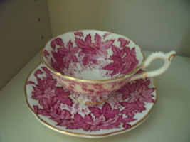 Coalport Red Ivy ChinaTea Cup and Saucer - $45.00