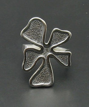 R000720 Sterling Silver Ring Solid 925 Flower - $270,73 MXN