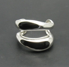 R000728 Stylish STERLING SILVER Ring Solid 925 Enamel Adjustable size - $616,35 MXN