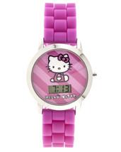 Sanrio Kinder Hello Kitty Pink Silikon Band Uhr Mit Geformt Kopf Aufbewahrung