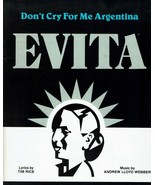 Sheet Music Dont Cry For Me Argentina Evita Andrew Webber  - $14.36