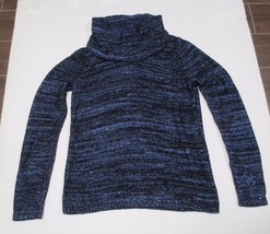 Inc International, Women's, Marled Cropped Cowl-neck Sweater, Blue, Sz.M... - $23.14