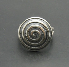 R000775 STERLING SILVER Ring Solid 925 Spiral Adjustable size - $350,26 MXN