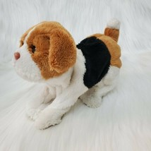 FurReal Friends Newborn Puppy Dog Tan Black Interactive Plush Toy B81 - $14.99